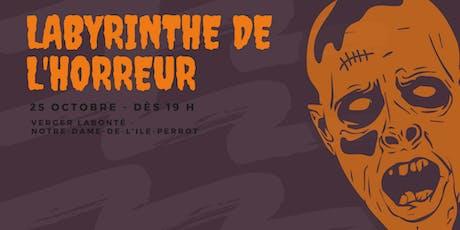 Labyrinthe de l'Horreur 2019 billets