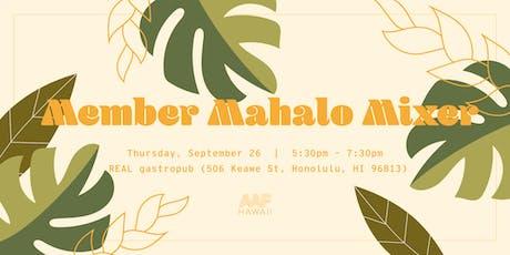 AAF Hawaii Member Mahalo Mixer 2019 tickets