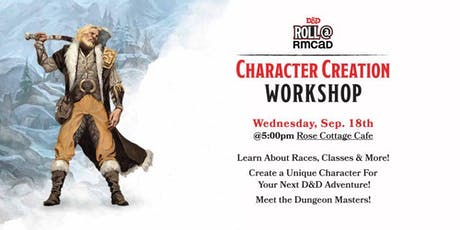 Roll@RMCAD Character Creation Workshop tickets