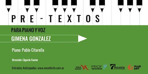 Pretextos para piano y voz con Gimena Gonzalez