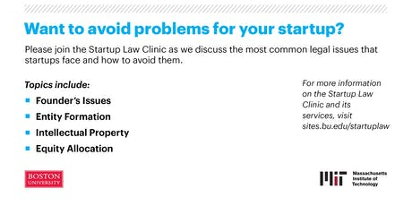Legal Pitfalls for Startups tickets