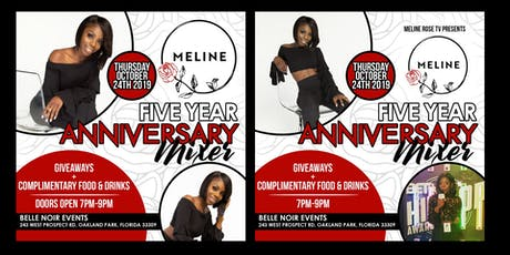 Meline Rose: 5 Year Anniversary Mixer  tickets