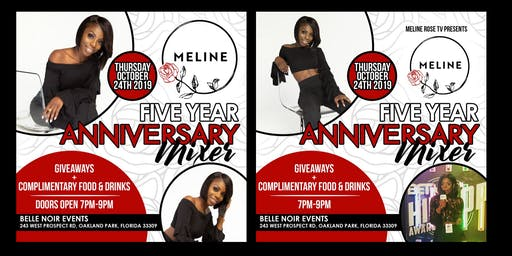 Meline Rose: 5 Year Anniversary Mixer