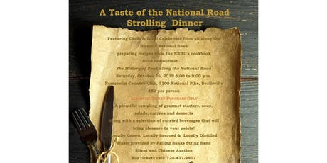 Taste of the National Road Strolling Dinner tickets