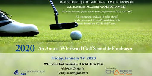 2020 Whirlwind Golf Scramble, presented by Chasse Building Team