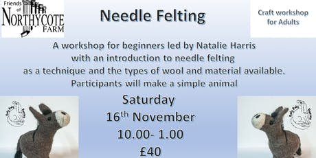 Needle-felting for Adults an Introductory Workshop tickets