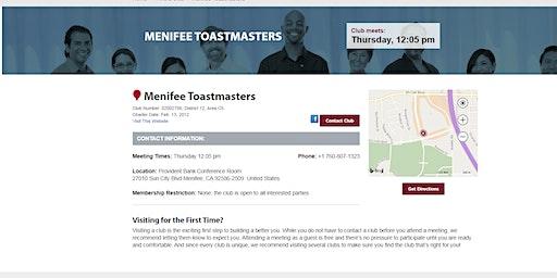 Menifee Toastmasters Meeting