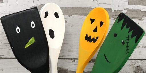 Halloween Painted Kitchen Spoons