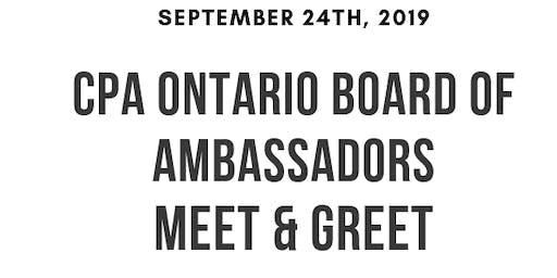 CPA Ontario Board of Ambassador Meet & Greet