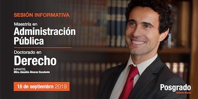 Sesión Informativa - Doctorado en Derecho y Maestría en Administración Pública