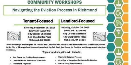 2019 Richmond Rent Program Community Workshops tickets