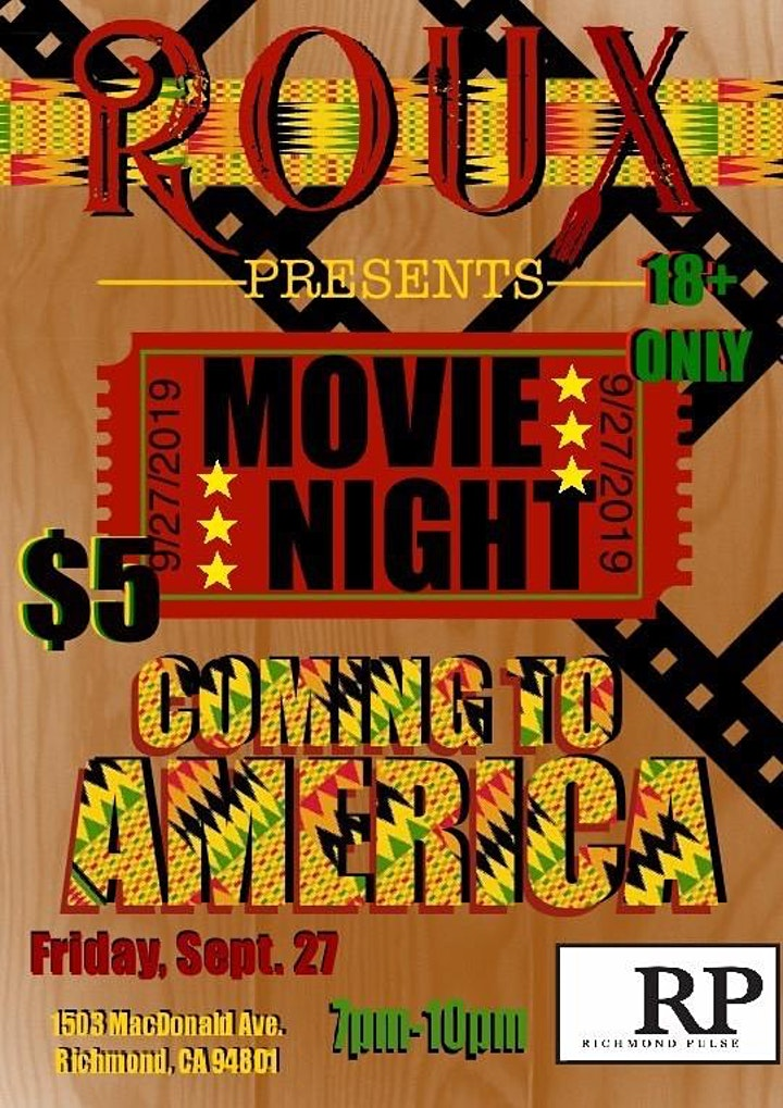 Richmond Pulse presents Roux's Movie Night image