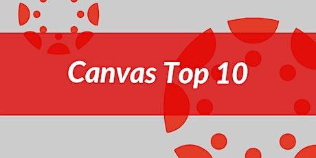 Canvas Top 10: Grades tickets