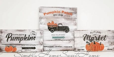 Autumn Signs and decor DIY tickets