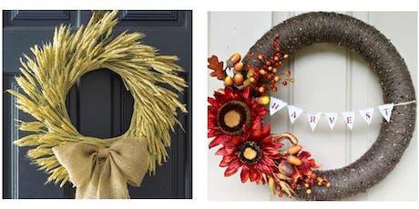 DIY Fall Wreath Night @ Frogg Brewing tickets