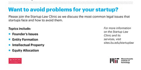Legal Pitfalls for Startups tickets