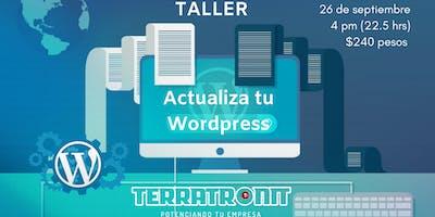 Taller: Actualiza tu Wordpress