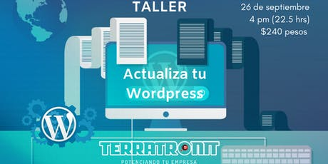 Taller: Actualiza tu Wordpress boletos