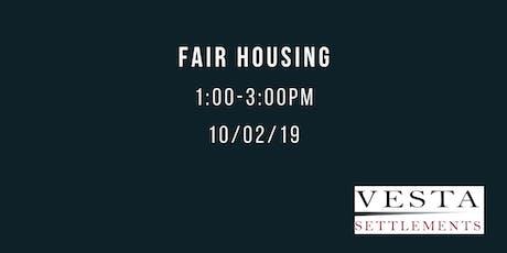 Fair Housing tickets