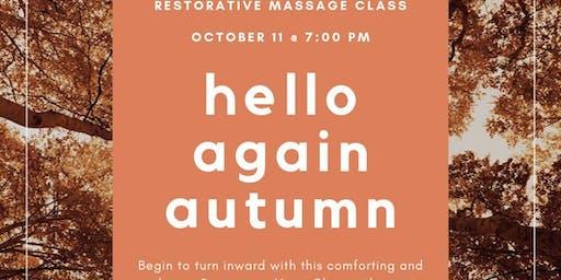 Restorative Massage Class