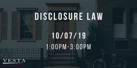 Disclosure Law tickets