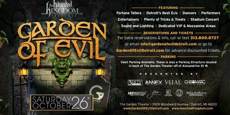 Haunted Kingdom presents Garden of Evil tickets