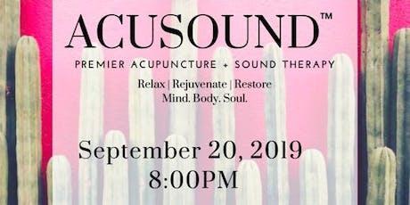 Acusound: Premier Sound Therapy + Acupuncture  (Soundbath)- Orange tickets