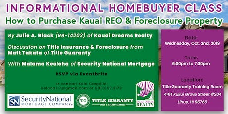 How to Purchase Kauai REO & Foreclosure Property tickets