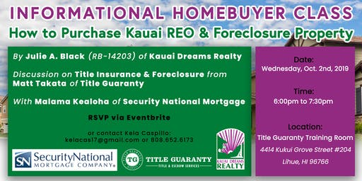 How to Purchase Kauai REO & Foreclosure Property