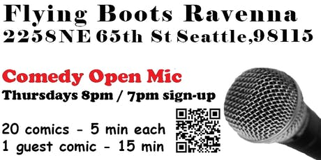 Alex Orozco at Comedy Open Mic - Flying Boots Ravenna tickets