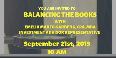 Balancing the Books with Guest Speaker tickets