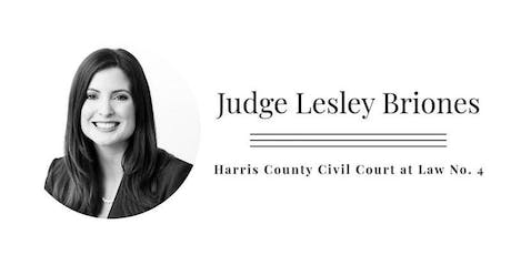 Fundraising event for Hon. Lesley Briones - Harris County Judge Civil Court tickets