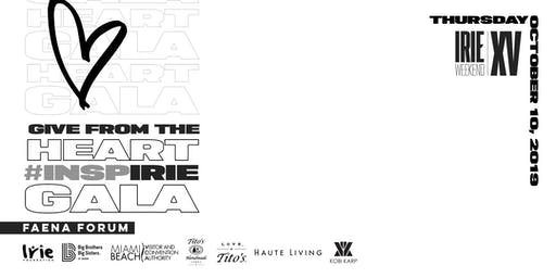 Give from the Heart #InspIRIE Gala   Irie Weekend XV