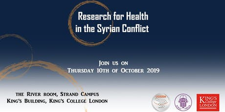Research for Health in the Syrian Conflict tickets