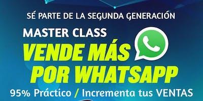 MasterClass Vende + por WhatsApp e Incrementa tus Ventas