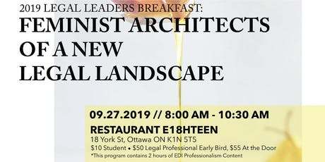 Legal Leaders Breakfast 2019 /Petit-déjeuner des leaders juridiques 2019 billets