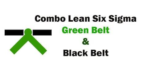 Combo Lean Six Sigma Green Belt and Black Belt Certification Training in Tulsa, OK ingressos