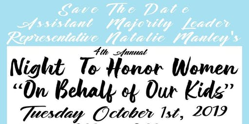 Representative Natalie Manley Presents the 4th Annual Night to Honor Women