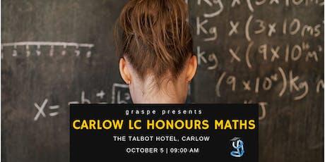 Carlow Honours Level Leaving Cert Maths Crash Course tickets