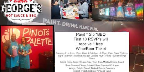 Paint Sip & BBQ tickets