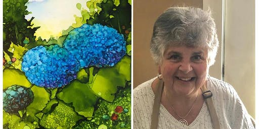 Alcohol Ink Floral Paintings Intermediate Level with Mary Wojciechowski