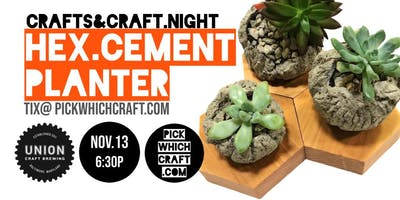 HEX Cement Planter  at UNION Craft Brewing