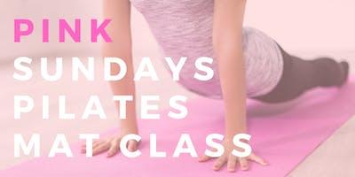 PINK Sundays Pilates Mat Class