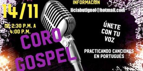 Coro Gospel ( Practicando canciones en portugués ) entradas