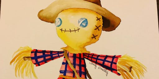 Scarecrow Watercolor Painting