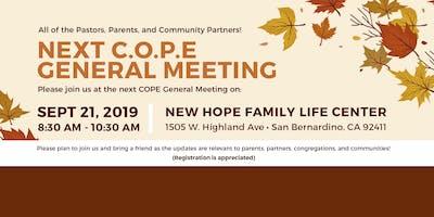 C.O.P.E.  General Meeting