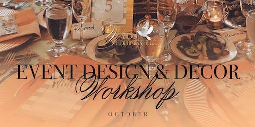 Event Design & Decor Workshop  (October)