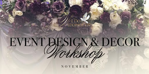 Event Design & Decor Workshop  (November)