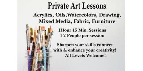 Book a Private Paint Class (2019-09-18 starts at 11:30 AM) tickets