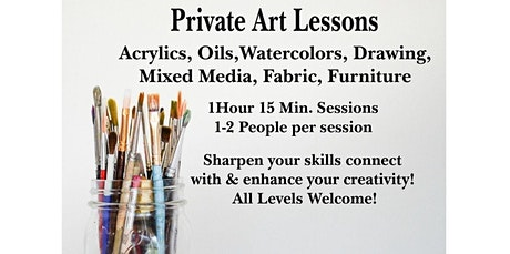 Book a Private Paint Class (01-30-2020 starts at 11:00 AM) tickets